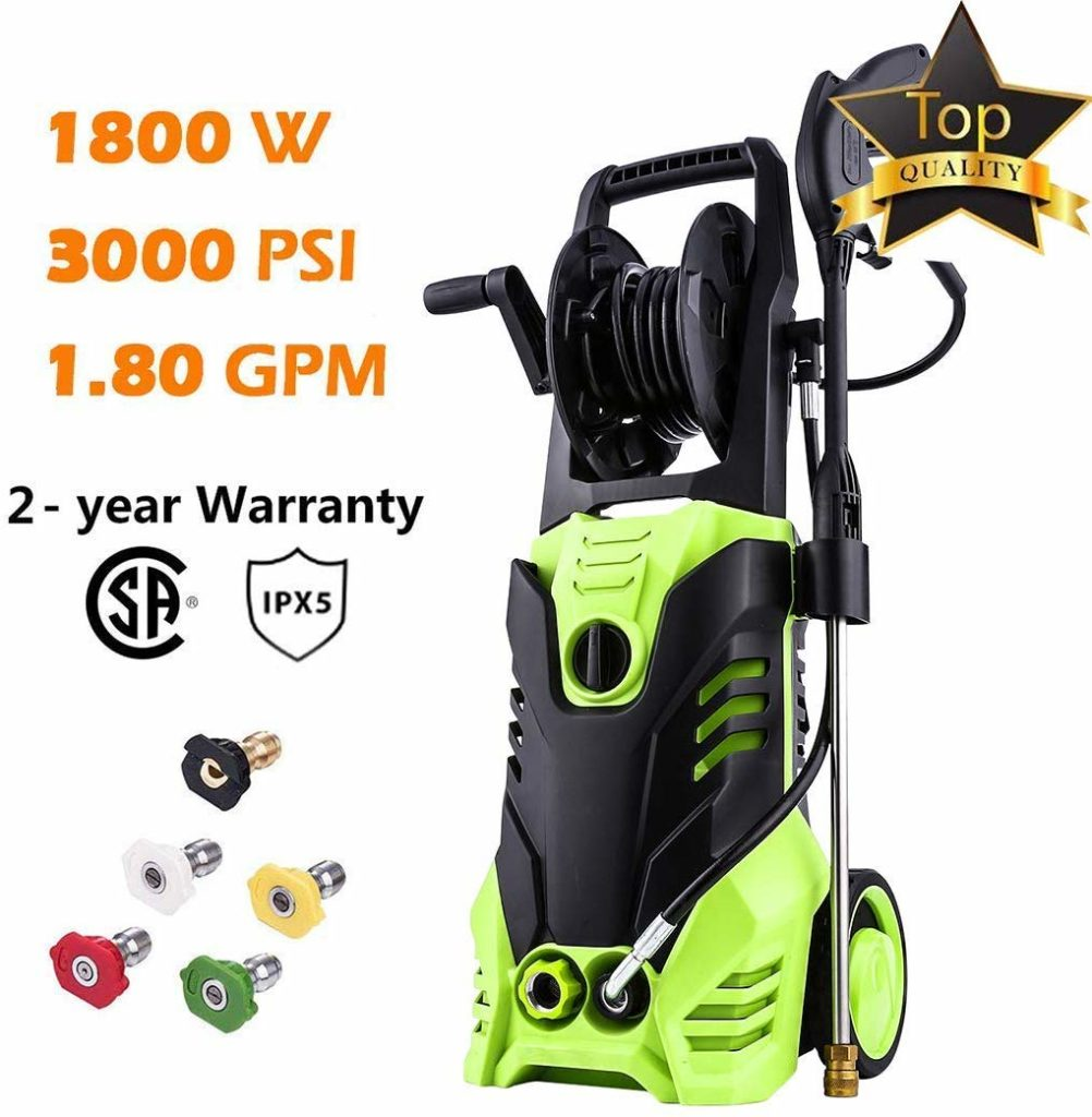 Homdox 3000 PSI electric pressure washer.
