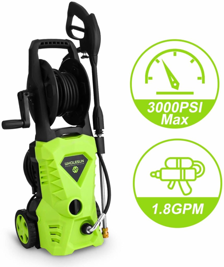 WHOLESUN 3000 PSI electric pressure washer.