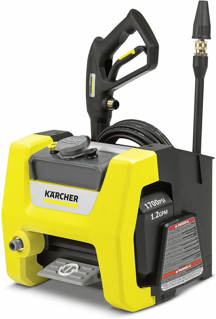 Reviewed in this article: Karcher K1700 cube electric pressure washer.