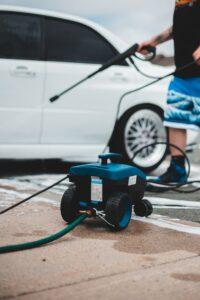 Blue pressure washer.
